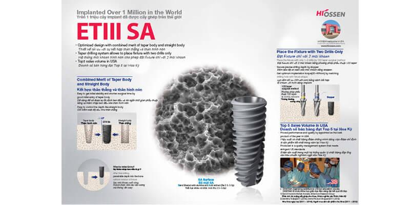 Đặc điểm cấu tạo nổi bật của implant hiossen