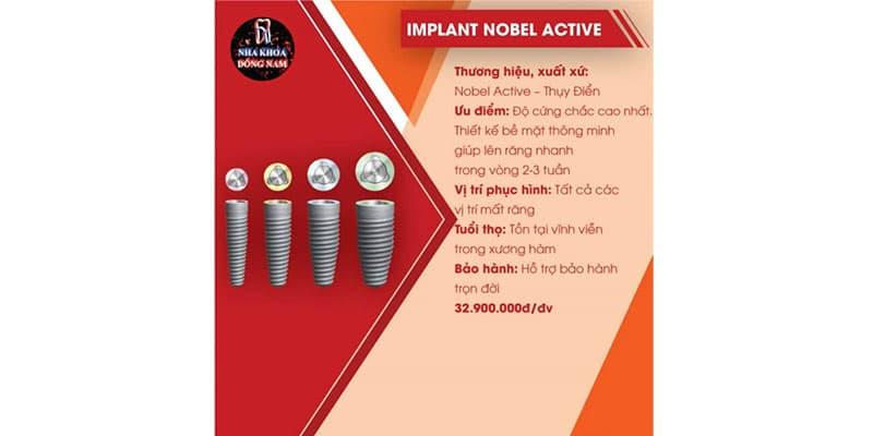 tổng quan trụ implant nobel active của thụy Điển