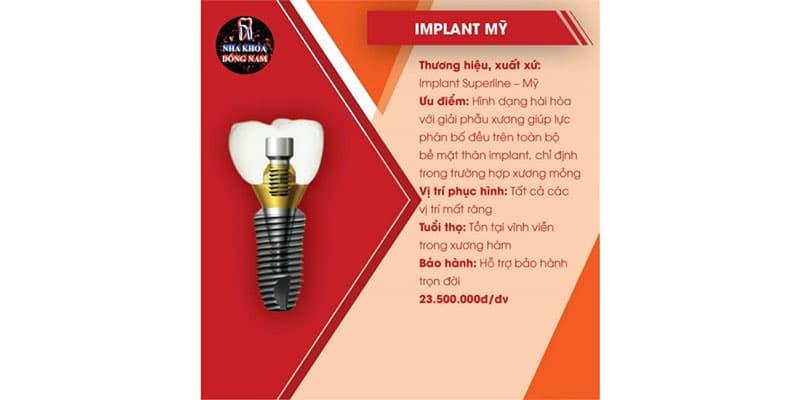 tổng quan trụ implant superline của mỹ