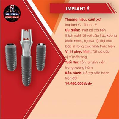 Trồng Răng Implant C Tech Của Ý Giá Bao Nhiêu