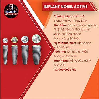 Trồng Răng Implant Nobel Active Bao Nhiêu Tiên