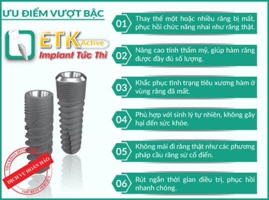 ưu điểm nổi bật của implant etk active